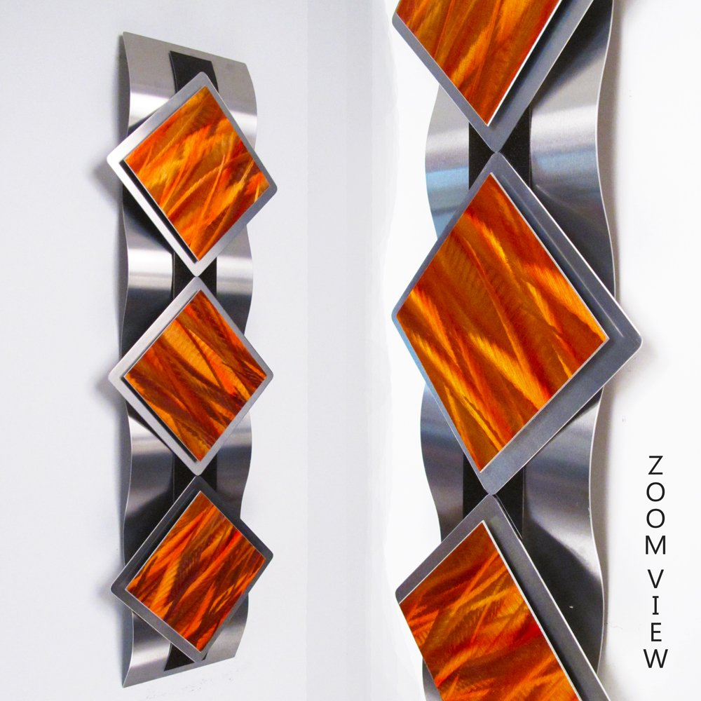 Mystic Reflections, Inferno Modern Abstract Metal Wall Art Sculpture Red  Orange Painting Home Decor: Amazon.co.uk: Kitchen U0026 Home