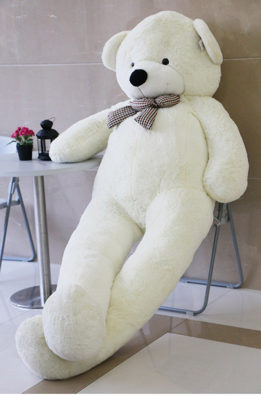 VILAVI 47 White color 120CM Giant Huge Cuddly Stuffed Animals Plush Teddy Bear Toy Doll by Generic
