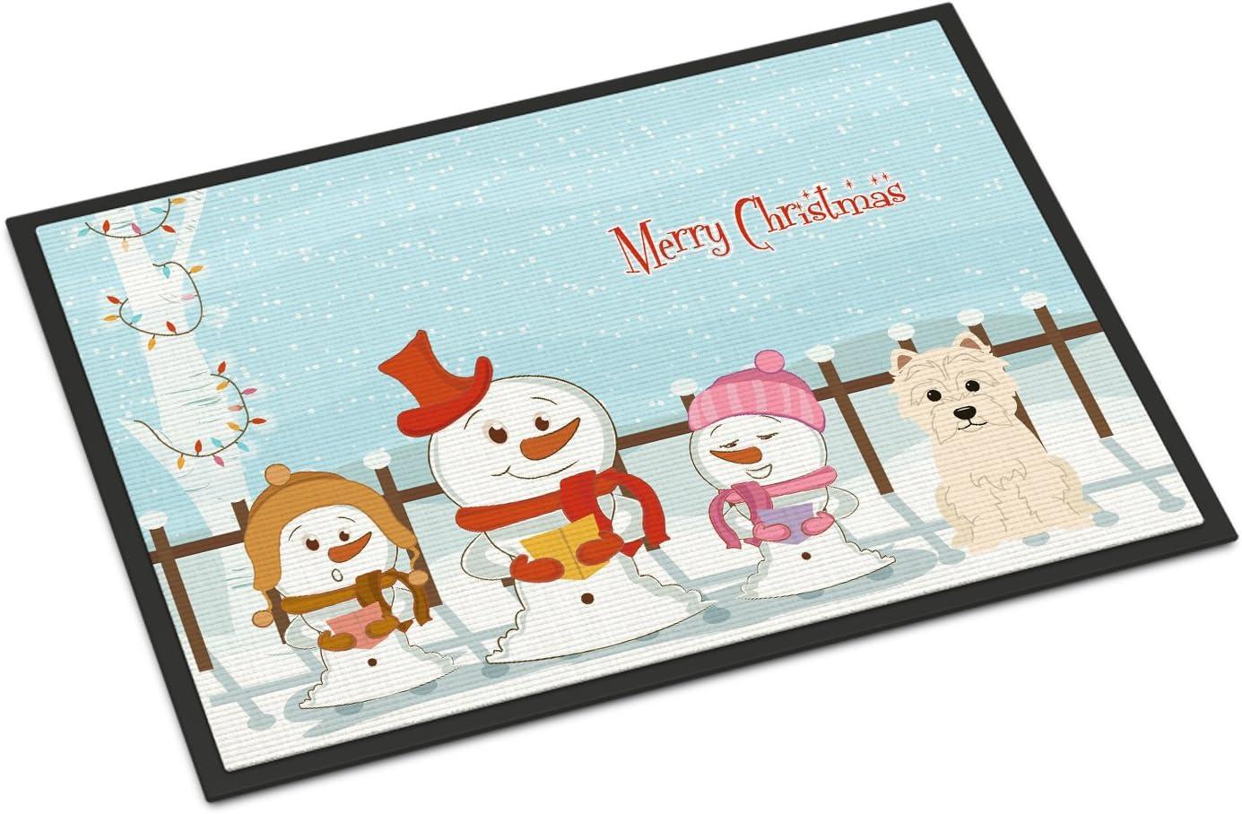 Caroline s Treasures BB2373MAT Merry Christmas Carolers Westie Indoor or Outdoor Mat 18×27, 18H X 27W, Multicolor