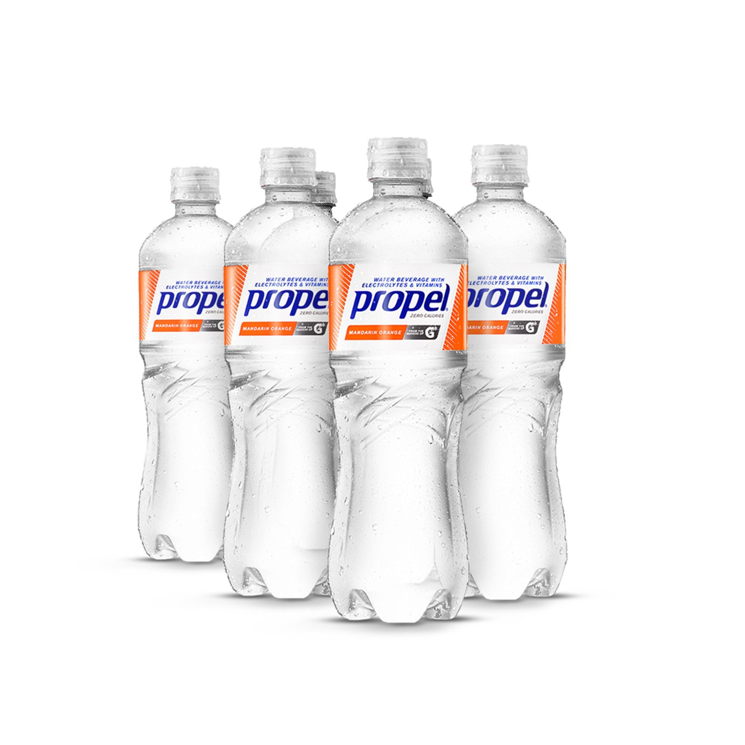Propel Water Mandarin Orange Flavored Water With Electrolytes, Vitamins and No Sugar 16.9 Ounces (Pack of 6)