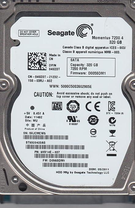 Seagate ST9320423AS IMSourcing Momentus 72004 320 GB 25 Inch Internal Hard Drive