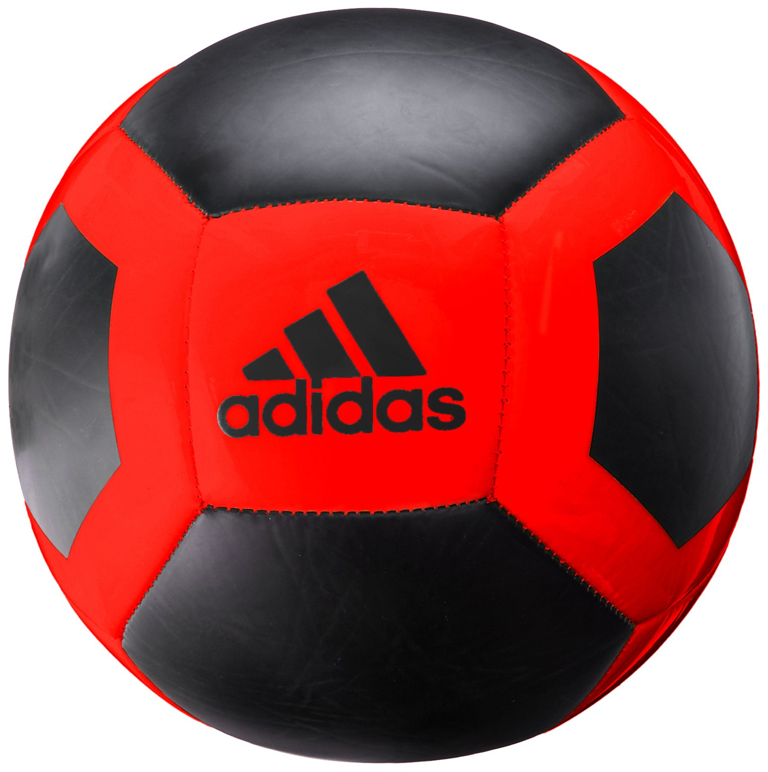 adidas Performance Glider II Soccer Ball, Core Black/Solar Red, Size 3