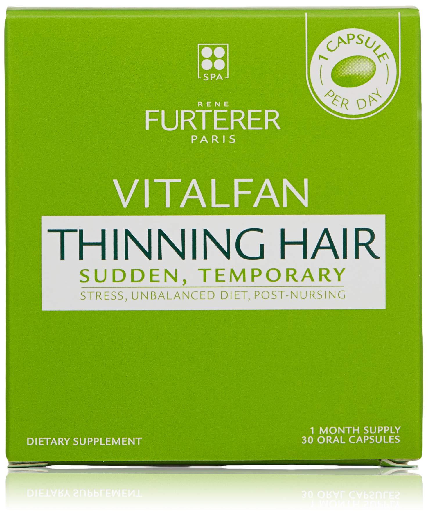 Rene Furterer Vitalfan Dietary Supplment For Sudden, Temporary Hair Thinning Bundle, 30 Count
