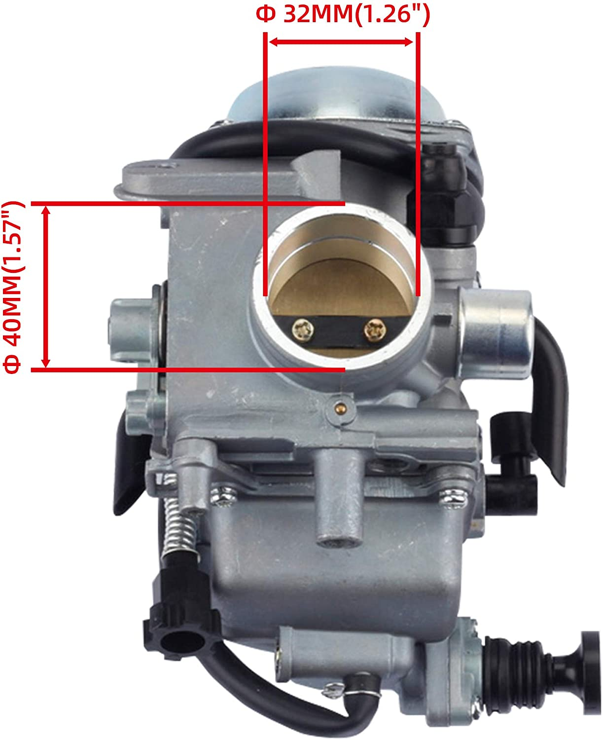 Dasbecan Carburetor with Oil//Air Filter Compatible With Honda Rancher Foreman Fourtrax ATC250SX TRX300FW 350 400 450 1985-2006 ATV Carb Assembly