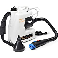 SuperFogger Fogger Machine Disinfectant Fogger Atomizer Bleach Spray Mist Duster ULV Sprayer 3GAL 1-15GPH Mist Blower Adjustable Particle Size 0-50μm/Mm with Extended Commercial Hose & Spray Nozzle