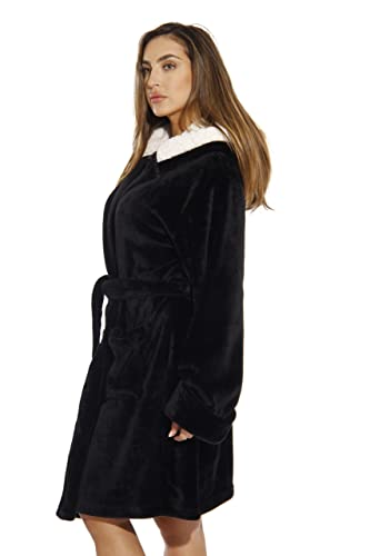 f79bbf0c43 Just Love Hooded Velour Robe for Women with Sherpa Lined Hood at Amazon  Women s Clothing store
