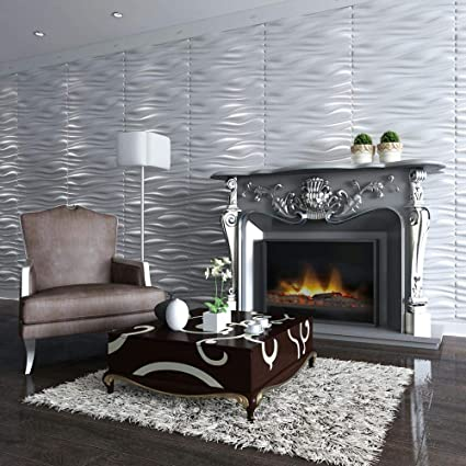 Amazon.com: Decoration Brick Design Wall Decor, PVC 3D Wall Panels ...