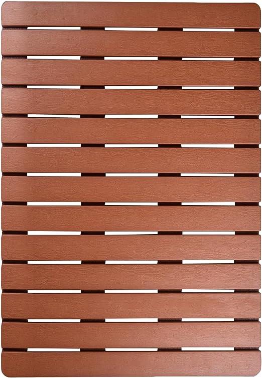 Amazon.com: I FRMMY - Alfombrilla de baño grande de madera ...