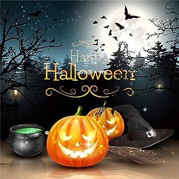 BuEnn 8x8ft Fondo Halloween Calabaza resplandeciente Jack-O ...