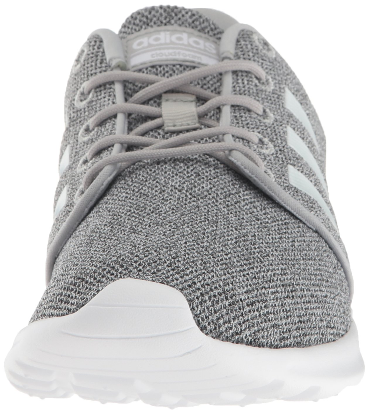 adidas Women's Cloudfoam Qt Racer w Running Shoe, Clear Onix/White/Light Onix, 5 M US by adidas (Image #4)