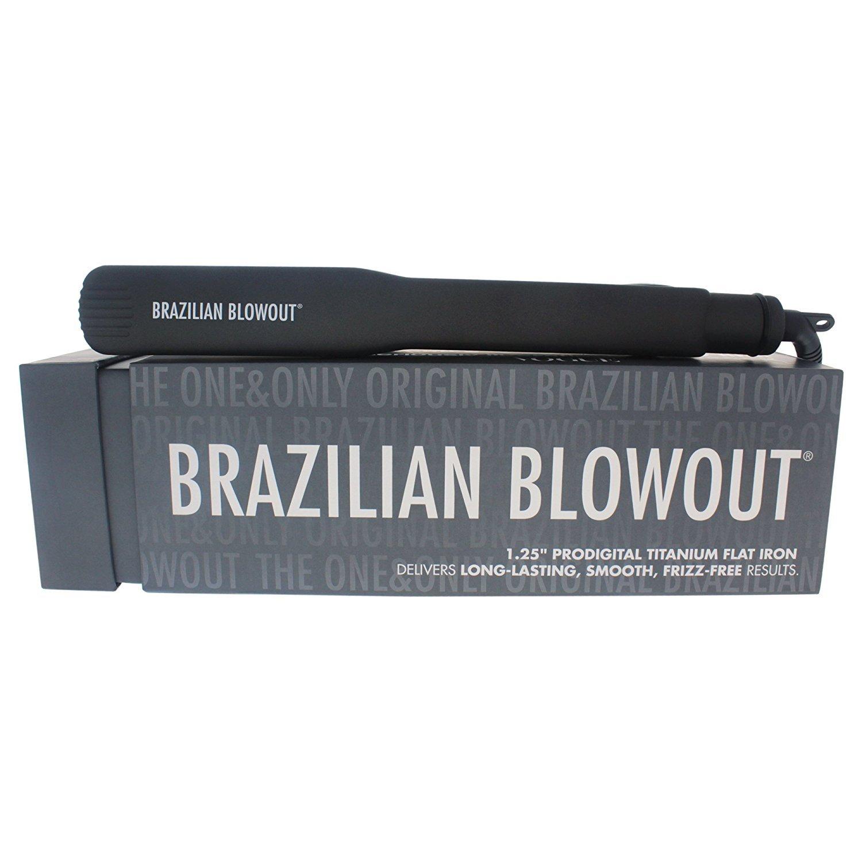 Brazilian Blowout Model 11T22 Prodigital Titanium Flat Iron, Grey, 1.25 Ounce