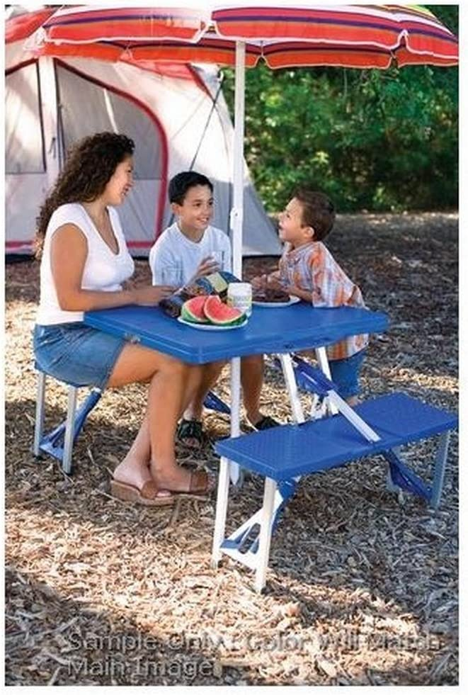 App State Mountaineers Picnic Table Portable Folding Table with Seats, Black