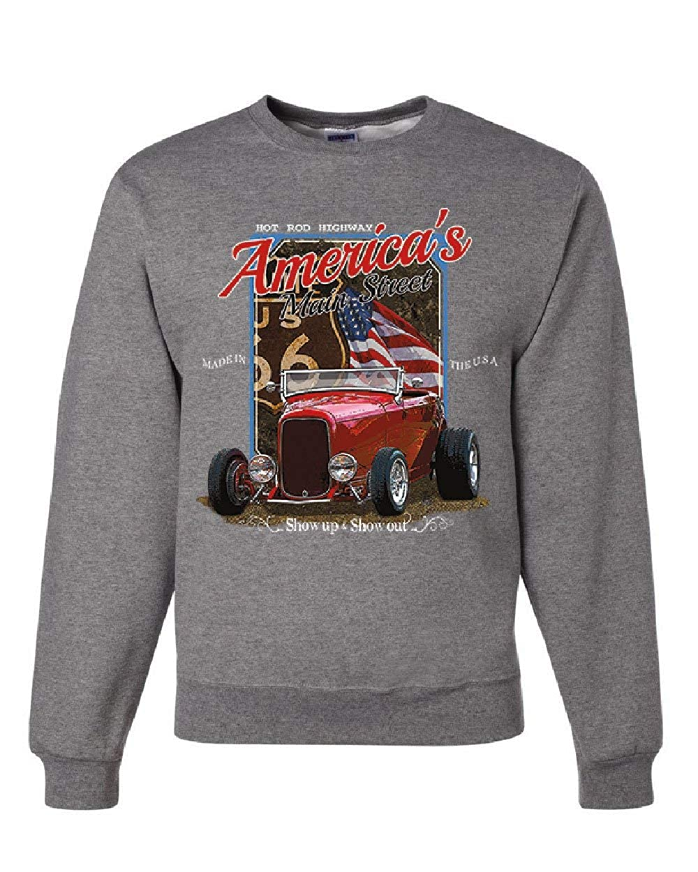 Hot Rod Highway Route 66 Sweatshirt Americas Main Street Vintage Sweater
