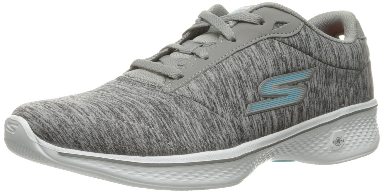 Skechers Performance Women's Go Walk 4 Lace-up Walking Shoe B01IIZCEQQ 10 B(M) US|Gray/Blue Heather