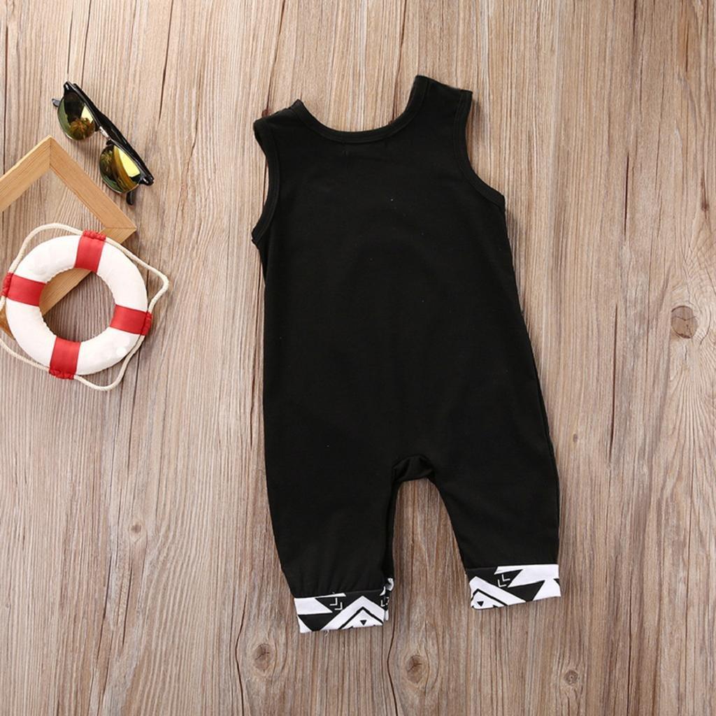 0-24 Monate Bekleidung Longra S/äugling Baby Jungen Kleidung Denim Romper Strampler Jumpsuits Kurzarm Rei/ßverschluss Overall Outfits