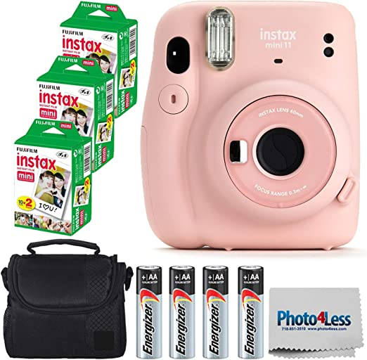 Sky Blue FUJIFILM INSTAX Mini 11 Instant Film Camera Plus Instax Film and Accessories Stickers Hanging Frames and Microfiber Cloth
