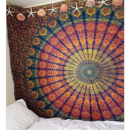 GDL Tapiz Impreso Digital, Toalla de Playa Cuadrada, Adornos de decoración casera,Red