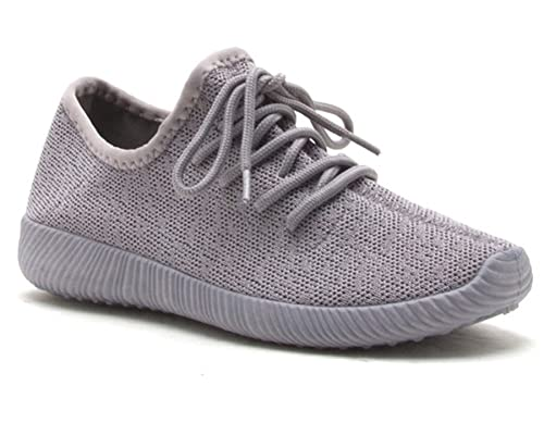 70a97ef9d9 Amazon.com | REVOL Men Women Unisex Casual Running Sneakers Breathable Athletic  Sports Shoes (Women 6.5(M)US, Light Grey) | Fashion Sneakers
