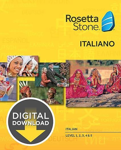 Rosetta Stone - Learn Italian (Level 1, 2, 3, 4, & 5 Set) for students price comparison