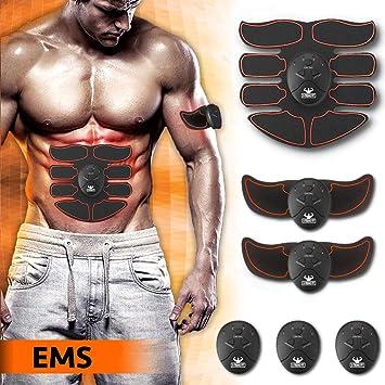 X-TREME FIT Electroestimulador Muscular EMS para Abdominales esculpidos - Estimulador Muscular Profesional para Hombres y Mujeres - Estimulador Muscular ...
