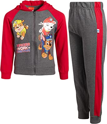 DC SHOES OUTFIT SET FLEECE HOODIE SWEATPANTS SET BOYS SZ 5 RED GREY NEW