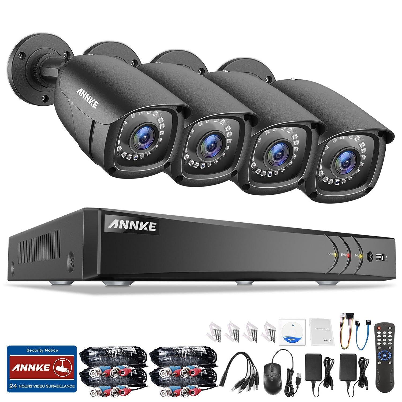 ANNKE 屋外防犯カメラセット 300万画素 高解像度 防犯レコーダー 遠隔監視対応 暗視機能 防水カメラ4台レコーダーセット 夜間監視 モーション検知 IP66 メール警報(HDDなし) B07F6Y74ZM  HDDなし