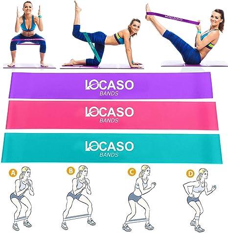 Bandas de Resistencia de 30 cm | Pierna | Yoga | Pilates ...