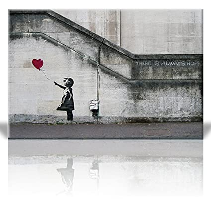 Wall26 - There is Always Hope Balloon Girl By Banksy Graffiti Canvas Prints Wall Art |  sc 1 st  Amazon.com & Amazon.com: Wall26 - There is Always Hope Balloon Girl By Banksy ...