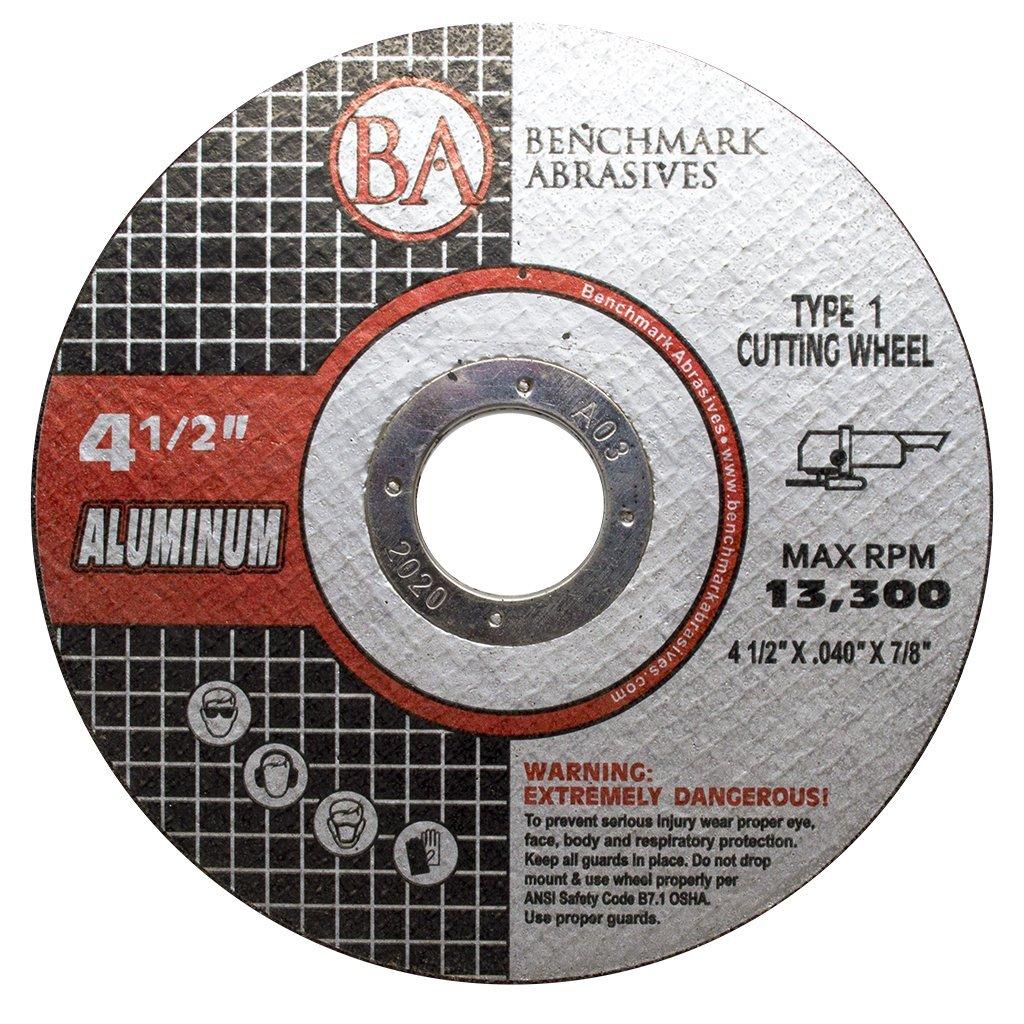 25 Pack - 4-1/2'' x .040'' x 7/8'' Type 1 Aluminum Cutting Wheels (25 Pack)