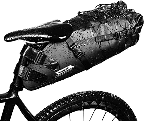 GARDOM Bolsa de Sillín Bici 10L Bolsa Bicicleta Impermeable Ajustable para Ciclismo MTB Bici Carretera