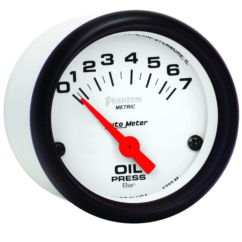 Auto Meter 5727-M Phantom Electric Metric Oil Pressure Gauge
