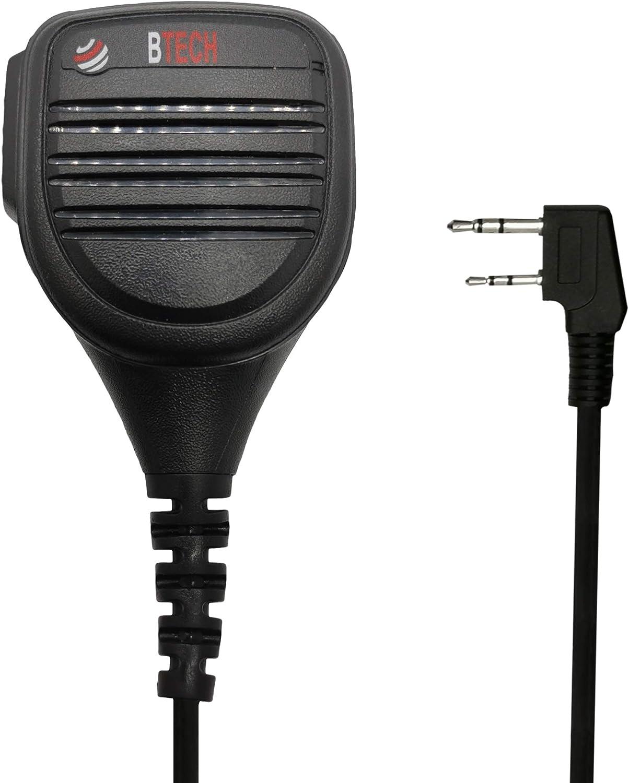 BTECH QHM22D Dual Push-to-Talk (PTT) Speaker Mic