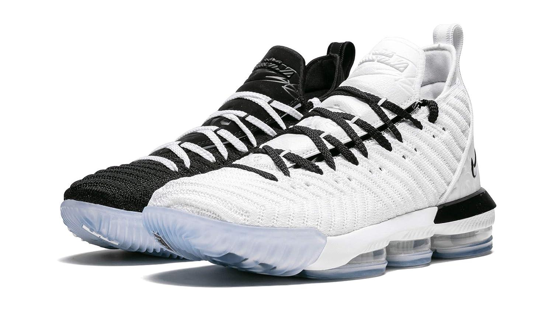 release date cd210 3dab5 Amazon.com | Nike Lebron 16 (White/Black, 9.5) | Basketball