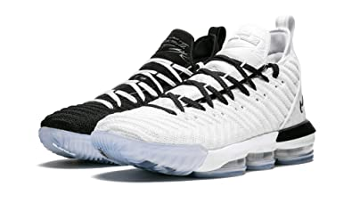 release date b73a4 b1268 Amazon.com | Nike Lebron 16 (White/Black, 9.5) | Basketball
