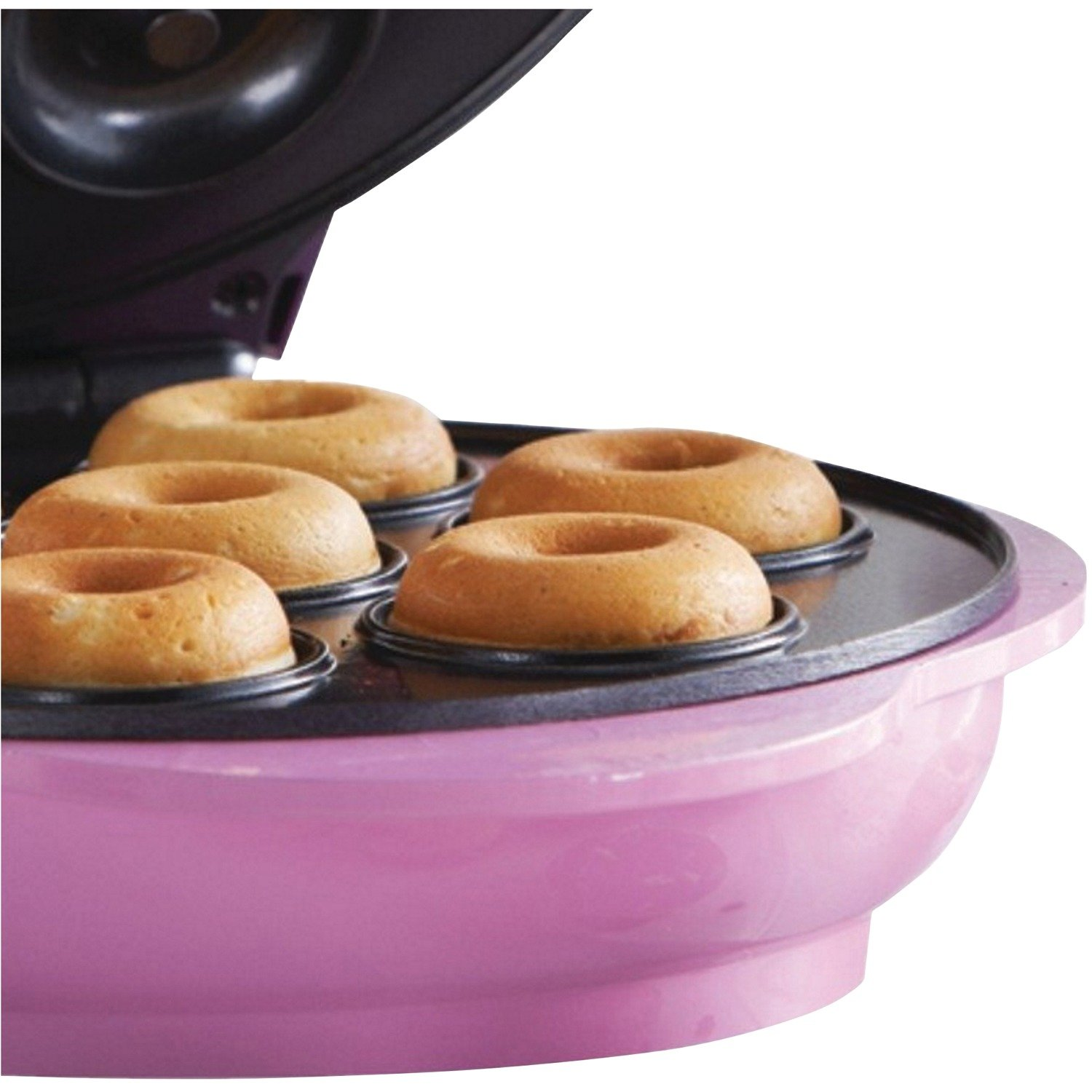 Brentwood TS-250 Non-Stick Mini Donut Maker Machine, Pink by Brentwood (Image #5)