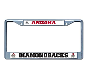 mlb arizona diamondbacks chrome license plate frame