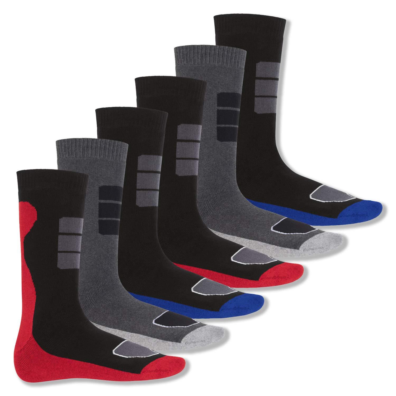 Footstar 6 Paia Calze da Uomo Termosocks spugna dal design sportivo