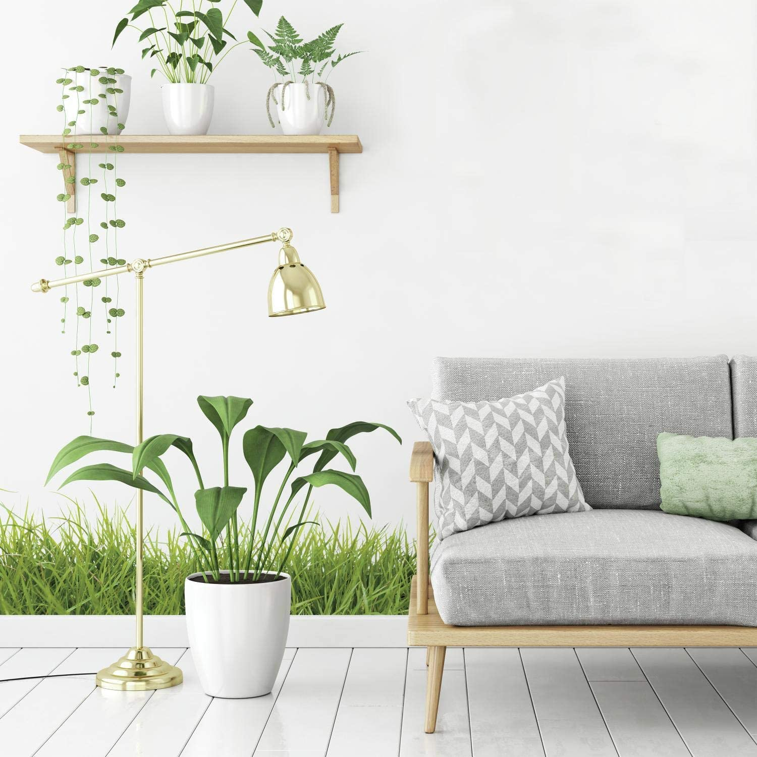 RoomMates Grass Peel And Stick Giant Wall Decals,Green,1 Sheet 36.5 inches x 17.25 inches