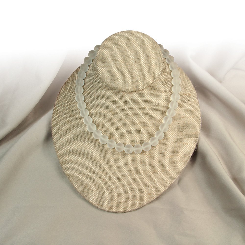 Ikee Design Linen Jewelry Necklace Display 6 3//4W x 8D x 3 1//2H