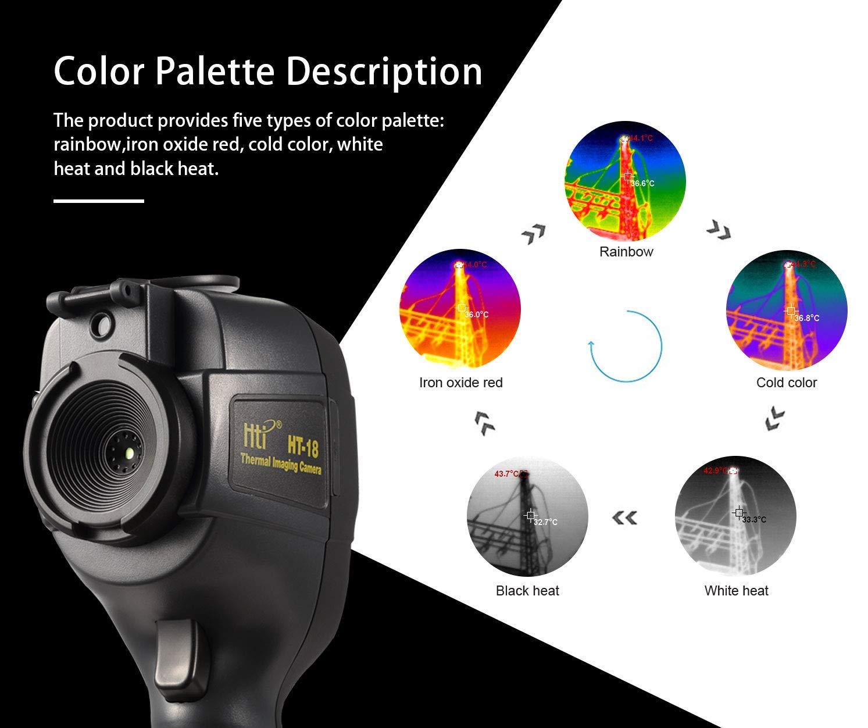 HTI Handheld 35200/p/íxeles c/ámara de imagen t/érmica 260/x 160/la resoluci/ón de infrarrojos por infrarrojos Sensor t/érmico Term/ómetro de infrarrojos con protector de pantalla 32/A color