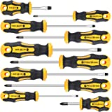 Amartisan 10-Piece Magnetic Screwdrivers Set, 5 Phillips and 5 Slotted Tips Professional Cushion Grip Screwdriver Set