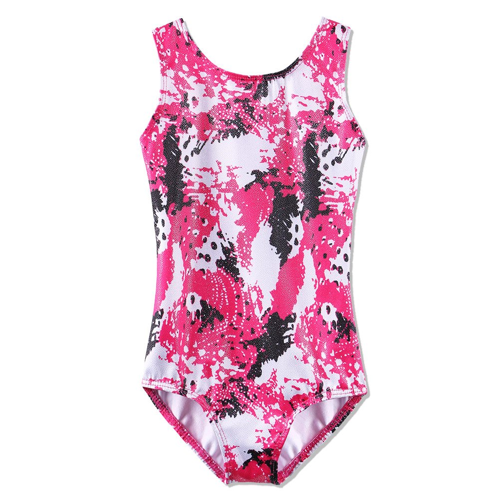 BAOHULU Leotard for Toddler Girls Gymnastics Shiny Athletic Dance Clothes 5 Colors B136_HotPink_10A