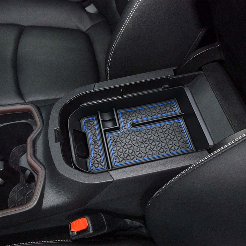 Armrest Secondary Tray Storage Box w//Black BAOYOU for Toyota RAV4 Accessories Center Console Organizer Tray Armrest Box Secondary Storage Fit 2019 2020 2021 Toyota RAV4