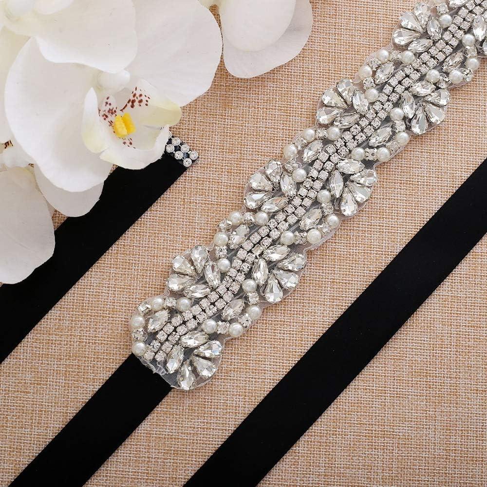 Zyangg-Home Sash Nuptiale Accessoires Cousu Main Perle Stras Applique Accessoires Parti Femmes Robe Banquet Ceinture Ceinture de Mariage Lavender
