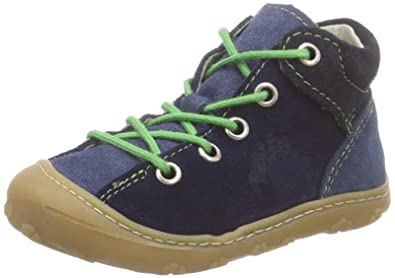Ricosta Mikey, Derbies à Lacets Mixte Enfant - Bleu - Blau (Reef/Nautic 158), 20 EU