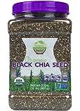 WunderBasket Organic Black Chia Seeds(Pack of 1)