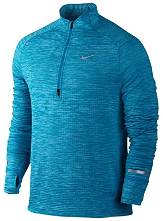 Nike Mens Dri-Fit Element Sphere 1/2 Zip Running Shirt-Imperial Blue