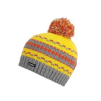 Eisbär Ours Polaire Bonnet tricoté Montel Pompon Kids  Gris Jaune Orange Rose Taille 3a5e0a50b86