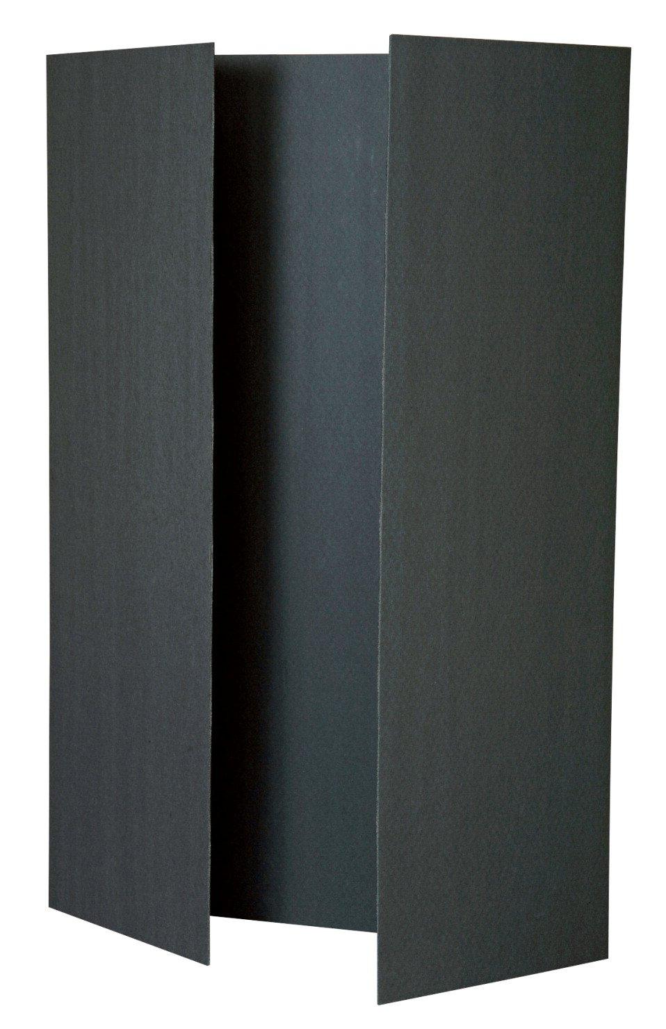 Pacon Value Foam Acid-Free Tri-Fold Presentation Board, 48 X 36 in, 3/16 in Thickness, Black, Case of 12