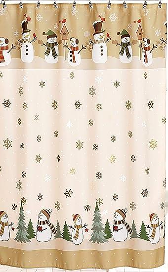 Winter Wonderland Heartland Snowman Shower Curtain U0026 Hook Set